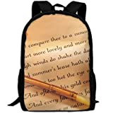 ZQBAAD How To Write A Love Letter Luxury Print Men And Women's Travel Knapsack