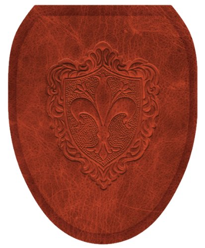 French Applique (Toilet Tattoos TT-1102-O Embossed French Lily Decorative Applique For Toilet Lid, Elongated)