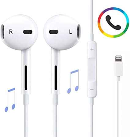 KBkome Cuffie fulmini, auricolari microfono e controllo del volume integrato per iPhone 77 8 più iPhoneiPhone 8plus X Bluetooth Connettività