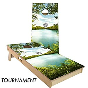 Slick Woody's 4'x2' Regulation Summer Lake Cornhole Boards Set