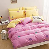 WaaiSo Simple Pure Cotton Soft Comfortable Bedding Collections Bedding Sets Four set Cartoon,1.2m?suitable 4 inches bed? Four set for chlidren, student, bedroom,&f3655
