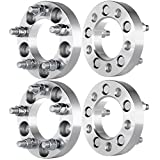 "Wheel Spacer for Jeep,ECCPP 4PCS 5 lug 1""(25mm) 5x4.5"" / 5x114.3 Fit for Jeep Wrangler Cherokee Liberty Ford Ranger Crown Victoria Mustang Edge Explorer Lincoln Town Car & More 1/2""x20 Studs"