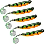 3D Soft Plastic Paddle Tail Lures 9cm