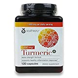 Youtheory Turmeric Extra Strength Formula Capsules 1,000 mg per Daily, 2Pack (120 Count Each ) For Sale