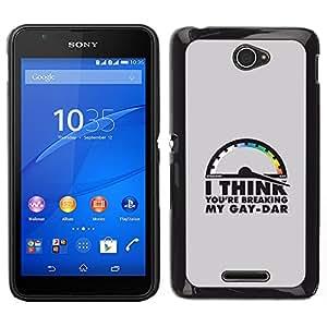 Stuss Case / Funda Carcasa protectora - Gaydar divertido Lgbt Cita; - Sony Xperia E4