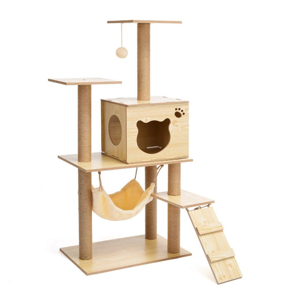 Density Flattop Density Flattop ZHENGDY Cat Home Tall Rest Hammock Indoor Activity Center Cat House,Steady Cat Climbing Frame Scratches Beige,Density-Flattop