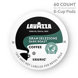 Lavazza Gran Selezione Single-Serve Coffee K-Cups for Keurig Brewer, Dark Roast, Dark Roast, 60 Count