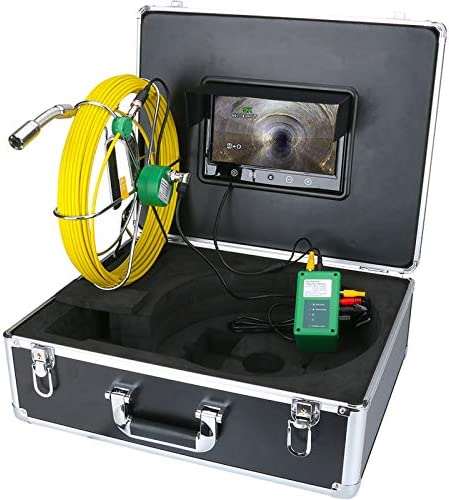 50m Röhr Inspektionskamera Abwasserkanal Industrie Pipe Line Endoskop Inspektions Kamera Kanalinspektion Ablaufinspektion Gerät Wasserdichtes Mit 10 Hd Lcd 1000tvl Baumarkt
