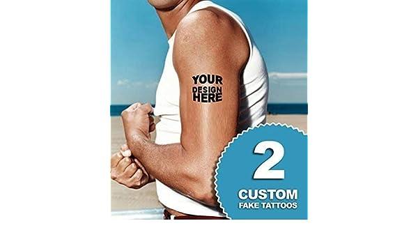 Amazon.com: Custom temporary tattoos | Fake removable customized ...
