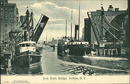 Jack Knife Bridge Buffalo, New York Original Vintage Postcard