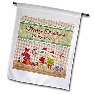 Beverly Turner diseño de Navidad–elfo niño y niña, taller de Papá Noel con juguetes, feliz Navidad para bautizo–banderas
