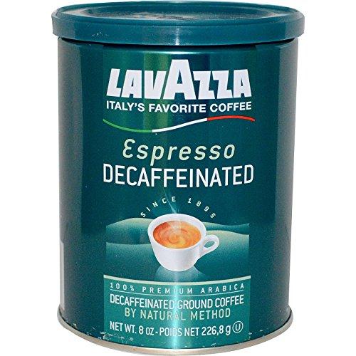 Coffee Decaffeinated Lavazza (LavAzza Premium Coffees, Decaffeinated Ground Coffee, Espresso, 8 oz (226.8 g) - 2pcs)
