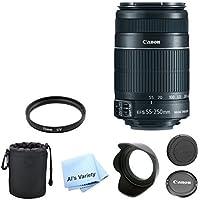 Canon EF-S 55-250mm f/4.0-5.6 IS II Telephoto Zoom Premium Lens Bundle (White Box)- International Model