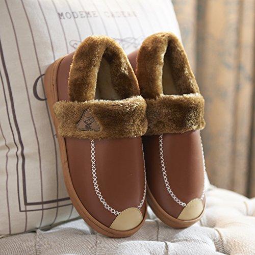 pour chaud des chaussons coton Hiver 37 dans hommes femmes en épais des convient antidérapants et chaussures la 36 au imperméables Chaussons chaussure d'hiver et des l'intérieur maison à fond couples nITpxPPqW