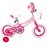JOYSTAR 14 Inch Kids Bike for 3 4 5 Years Girls, Child Bicycle with Training Wheels, Pink, 85% Assembled