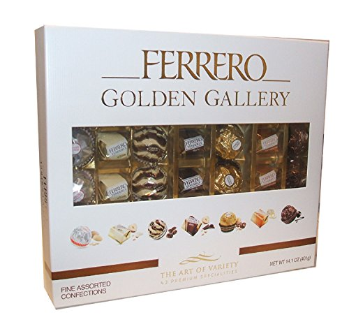 Ferrero Golden Gallery Fine Chocolate Assortment Collection (Pack of 42) Ferrero Rocher Christmas