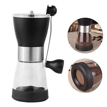 Máquina de café de plástico molinillo de mano molinillo de mano molino de café molinillo de café molinador de grano de cerámica molinillo de mano a mano: ...
