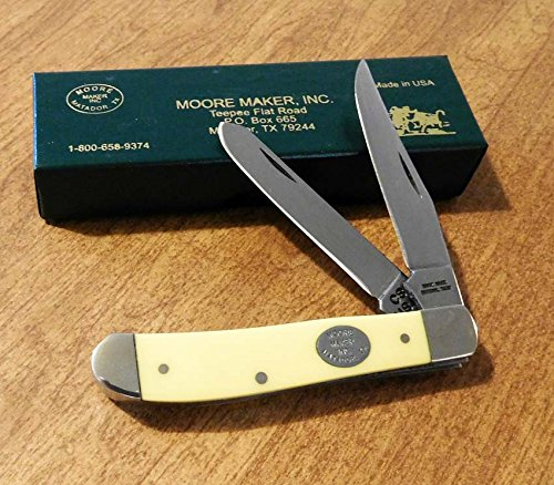 Moore Maker 3200B Yellow Delrin 2 Blade Mini Trapper