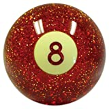 American Shifter 53785 Red 8 Ball Shift Knob with Metal Flakes