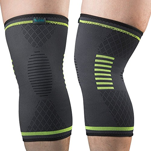 Knee-Brace-Support-Compression-Sleeves-Sable-1-Pair-FDA-Registered-Wraps-Pads-for-Arthritis-ACL-Running-Pain-Relief-Injury-Recovery-Basketball-and-More-Sports