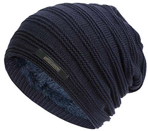 Casual Knitting Wool Beanie Hat Winter Warm Velvet Hat Outdoor Men's Fashion Beanie Cap Korean Style.Momoon