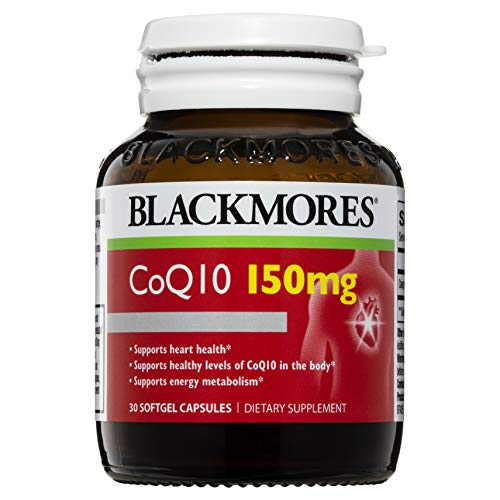 BLACKMORES CoQ10 150mg - 30 Capsules - Maintain Healthy Heart Function - Cardiovascular Support, Oxygen Uptake, Coenzyme Q10 (Best Q10 Supplement Australia)