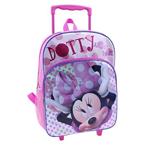 Top backpack rolling for girls disney