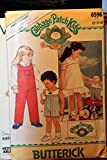 Butterick Cabbage Patch Kids Pattern 6596 Size 2-3-4 / Childrens Overalls, Jumper & Transfer (1984)