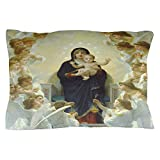 CafePress - Mother Mary Pillow Case - Standard Size Pillow Case, 20''x30'' Pillow Cover, Unique Pillow Slip