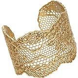 Aurélie Bidermann Lace Gold Cuff Bracelet