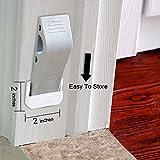 Impfunical Door Stopper - 4 Packs Rubber Wedge With Free Bonus Holders,Flexible Designer Home Door Stop(4,Gray)