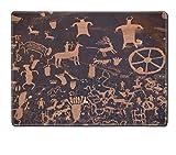 Luxlady Placemats IMAGE ID 5883079 Native American petroglyph Newpaper Rock Utah