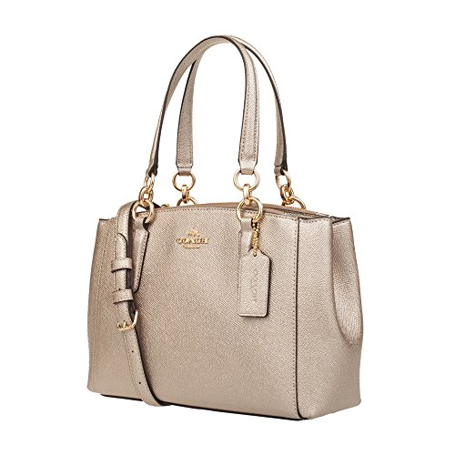 Bare Crossgrain in Coach Christie Carryall Gold Leather wqXnPf6t