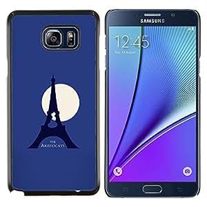 TECHCASE---Cubierta de la caja de protección para la piel dura ** Samsung Galaxy Note 5 ** --Aristogatos