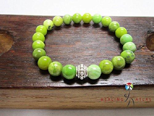 Chrysoprase Bracelet Green Gemstone Bracelet Chrysoprase Heart Chakra Bracelet Chrysoprase Charm Bracelet Venus Taurus Chrysoprase Bracelet
