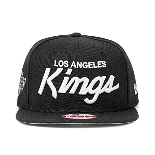 New Era Los Angeles Kings 9Fifty Black and White Vintage Script N.W.A Adjustable Snapback Hat NFL
