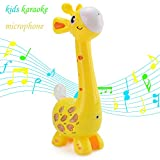 Kids Karaoke Microphone Musial Toys - Happytime 2018 Cool Giraffe Design Birthday Gifts Intelligence Development Toys for 18 Months up Children