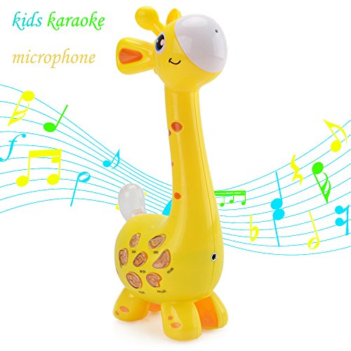 Kids Karaoke Microphone Musial Toys - Happytime 2018 Cool Giraffe Design Birthday Gifts Intelligence Development Toys for 18 Months up Children by Happy-Time