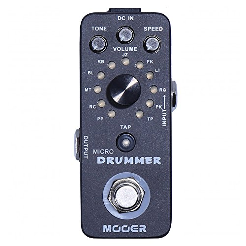 Mooer Audio Micro Drummer Digital Drum Machine Pedal (Best Drum Pedal For Guitar)