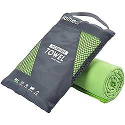 Rainleaf Microfiber Towel, 40 X 72 Inches. Green.