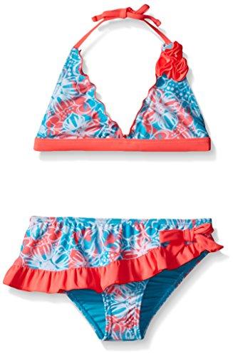 Laguna Big Girls Pretty Batik Two Piece Swimsuit, Turquoise, 16