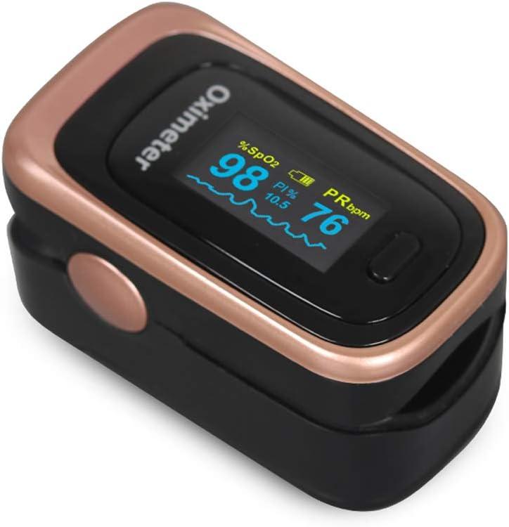 ZL Oxímetro Pinza de Dedo oxímetro de Pulso Monitor de frecuencia de Pulso Monitoreo del Ritmo cardíaco del sueño