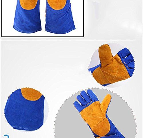 JIAYOU Guantes De Soldadura Engrosados /Protección Laboral Anti-Hot Insulation Línea De Incendios Wear-Resistant Welder Gloves: Amazon.es: Deportes y aire ...
