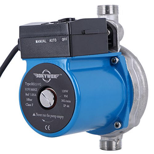 ot Water Circulation Pump 120W Automatic Circulating Pump For Solar Heater System(automatic stainless steel blue) (Domestic Circulating Pump)