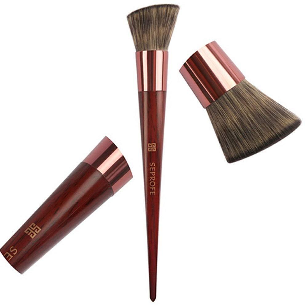 Fondation pinceau de maquillage Flat Top Kabuki Brosse pour Blending visage liquide, crème ou poudre Flawless Cosmétiques - écureuil Qualité haut de gamme fourrure et manche en bois Newin Star