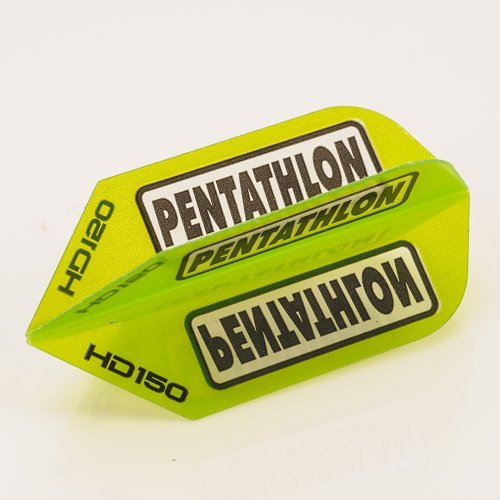 5 x Sets of Pentathlon Green Super Tough HD150 Dart Flights, Slim