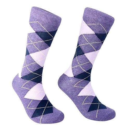 ivory-mason-argyle-socks-for-men-dress-sock-colorful-purple-color-cotton-size-10-13-single-pack