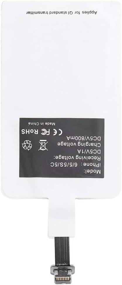 5C Gros Nouvelle /étiquette de r/écepteur de Pad de Charge de Puissance sans Fil Ultra Mince pour iPhone 5//6 5S
