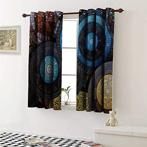 shenglv Moroccan Waterproof Window Curtain Handcrafts Shot at The Market in Morocco Antiquity Tradition Old Touristic Places Curtains for Party Decoration W84 x L72 Inch Multicolor