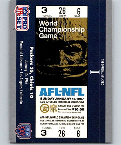 1990 Pro Set Super Bowl 160#1 SB I Ticket NFL ()